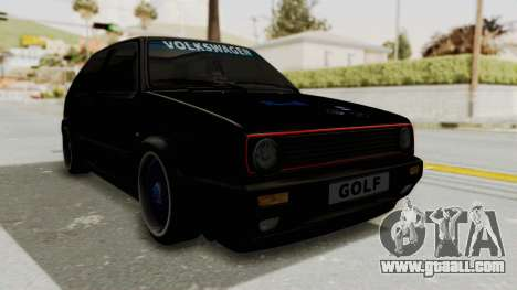 Volkswagen Golf 2 GTI for GTA San Andreas right view