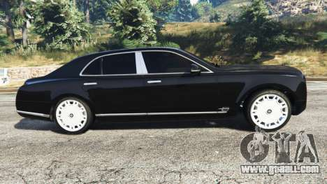 GTA 5 Bentley Mulsanne 2010 left side view