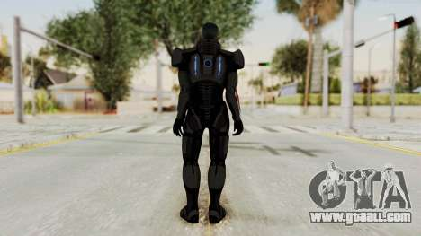 Mass Effect 2 Shepard Default N7 Armor No Helmet for GTA San Andreas third screenshot