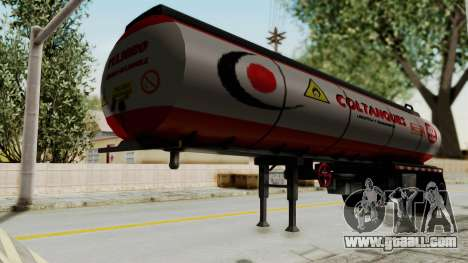 Trailer de Conbustible for GTA San Andreas back left view