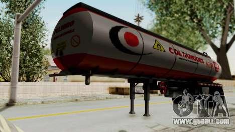 Trailer de Conbustible for GTA San Andreas back left view
