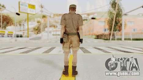MGSV Phantom Pain CFA Soldier v2 for GTA San Andreas third screenshot