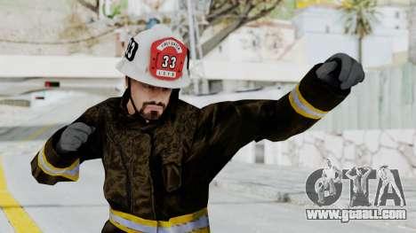 GTA 5 Fireman SF for GTA San Andreas