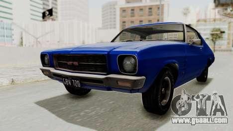 Holden Monaro GTS 1971 AU Plate IVF for GTA San Andreas