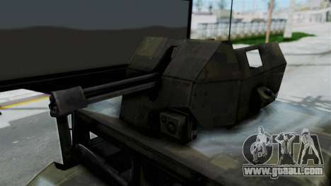 Humvee M1114 Woodland for GTA San Andreas back view