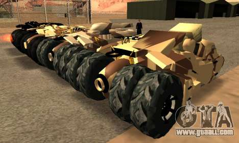 Army Tumbler Gun Tower from TDKR for GTA San Andreas inner view
