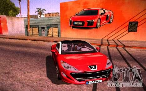 Audi R8 Wall Grafiti for GTA San Andreas second screenshot