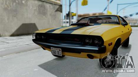 Dodge Challenger RT 440 1970 Six Pack for GTA San Andreas