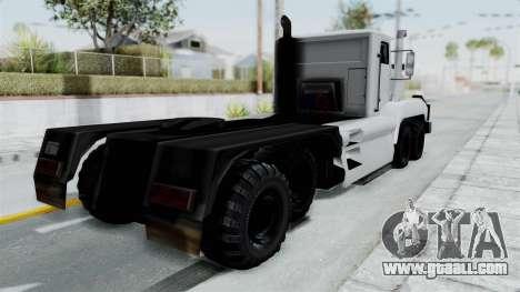 Roadtrain 8x8 v1 for GTA San Andreas back left view