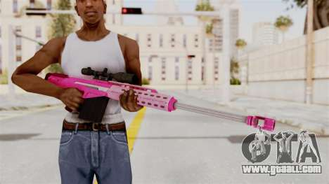 GTA 5 Heavy Sniper Pink for GTA San Andreas third screenshot