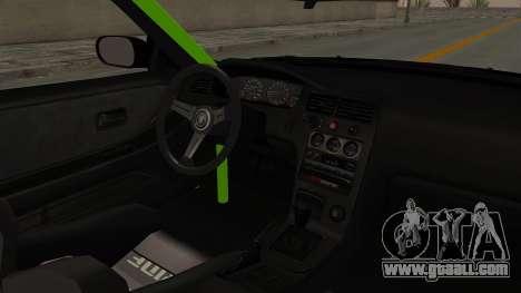 Nissan Skyline R33 Drift Monster Energy Falken for GTA San Andreas inner view