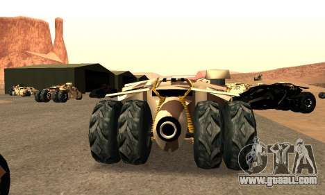 Army Tumbler Gun Tower from TDKR for GTA San Andreas right view