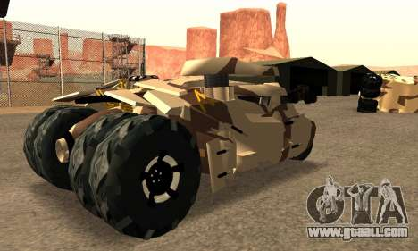 Army Tumbler Gun Tower from TDKR for GTA San Andreas back left view