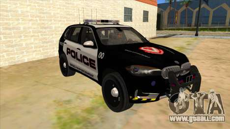 2014 BMW X5 F15 Police for GTA San Andreas back view