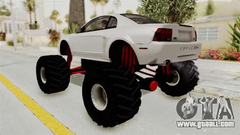 Ford Mustang 1999 Monster Truck for GTA San Andreas left view