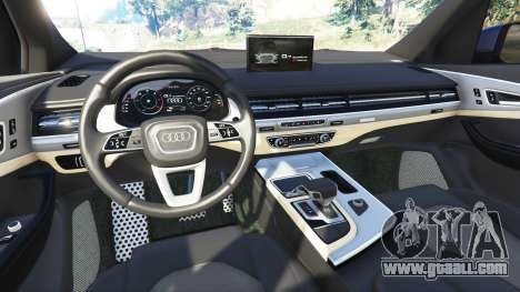 GTA 5 Audi Q7 2015 [rims1] rear right side view