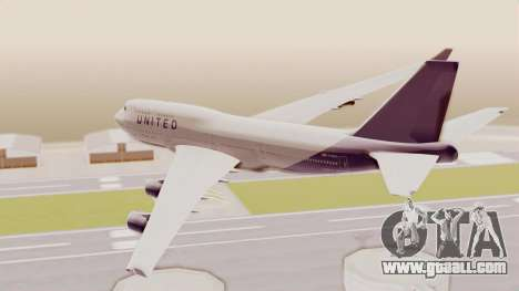 Boeing 747-400 United Airlines for GTA San Andreas right view