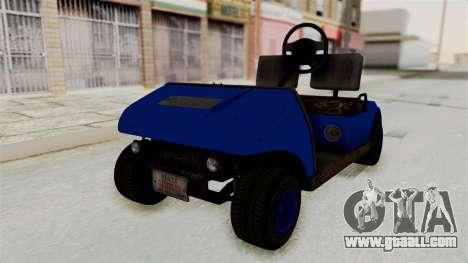 GTA 5 Gambler Caddy Golf Cart IVF for GTA San Andreas right view