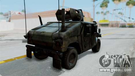 Humvee M1114 Woodland for GTA San Andreas left view