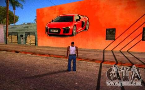 Audi R8 Wall Grafiti for GTA San Andreas