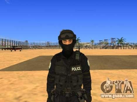Skin SWAT HD for GTA San Andreas