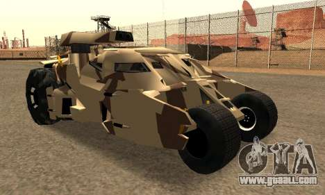 Army Tumbler Gun Tower from TDKR for GTA San Andreas side view
