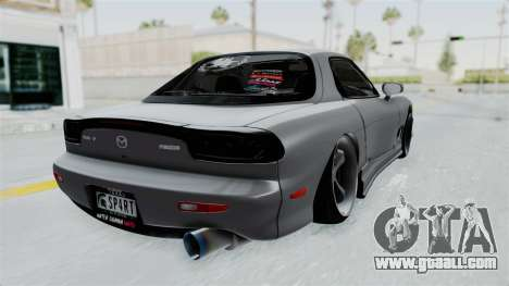 Mazda RX-7 FD3S HellaFlush for GTA San Andreas left view