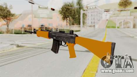 IOFB INSAS Plastic Orange Skin for GTA San Andreas second screenshot