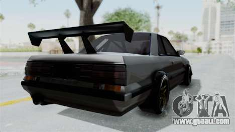 Nissan Skyline R31 for GTA San Andreas back left view