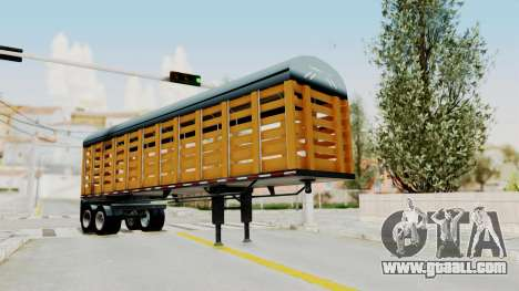 Trailer de Estacas for GTA San Andreas back left view