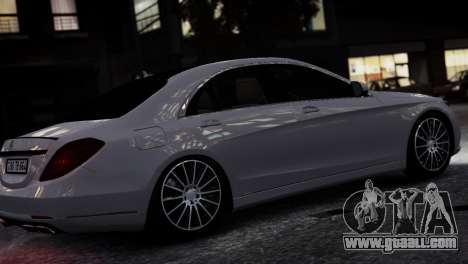 Mercedes-Benz w222 for GTA 4 left view