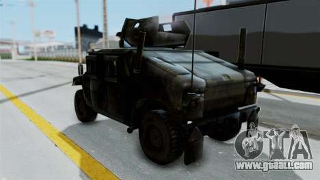 Humvee M1114 Woodland for GTA San Andreas back left view