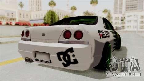 Nissan Skyline R33 Drift Monster Energy Falken for GTA San Andreas right view