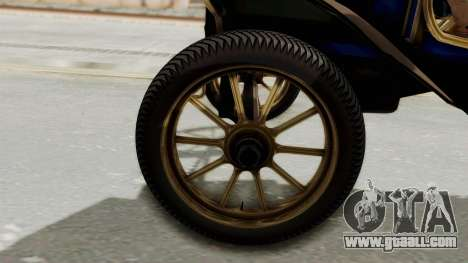 Ford T 1912 Open Roadster v2 for GTA San Andreas back view