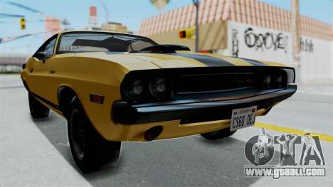 Dodge Challenger RT 440 1970 Six Pack for GTA San Andreas right view