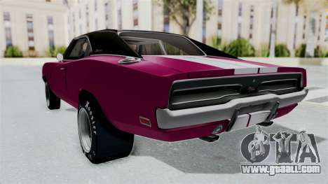 Dodge Charger 1969 Drag for GTA San Andreas back left view