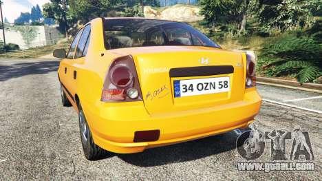 GTA 5 Hyundai Accent Admire rear left side view