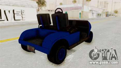 GTA 5 Gambler Caddy Golf Cart IVF for GTA San Andreas left view