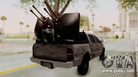 Toyota Hilux 2014 Army Libyan for GTA San Andreas back left view