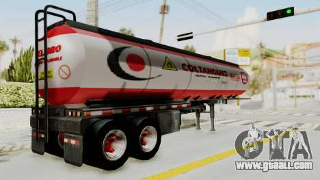 Trailer de Conbustible for GTA San Andreas left view