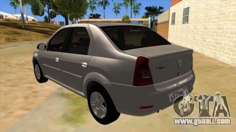 Dacia Logan for GTA San Andreas back left view