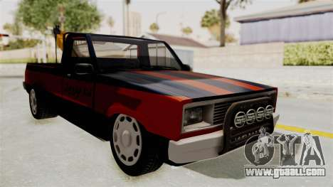 Mazda Tow Truck Pickup for GTA San Andreas back left view