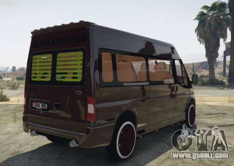 GTA 5 Ford Transit 1.1 [Replace] rear left side view