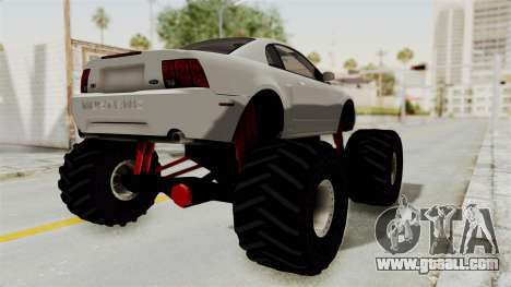Ford Mustang 1999 Monster Truck for GTA San Andreas back left view