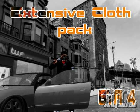 Extensive Cloth Pack for Niko 1.0 for GTA 4