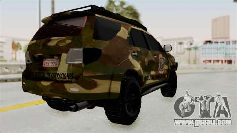 Toyota Fortuner 4WD 2015 Paraguay for GTA San Andreas right view