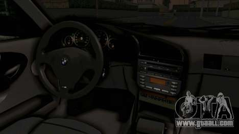 BMW 320CI E36 for GTA San Andreas inner view