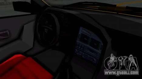 Peugeot Pars Full Sport for GTA San Andreas inner view