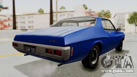 Holden Monaro GTS 1971 AU Plate IVF for GTA San Andreas back left view