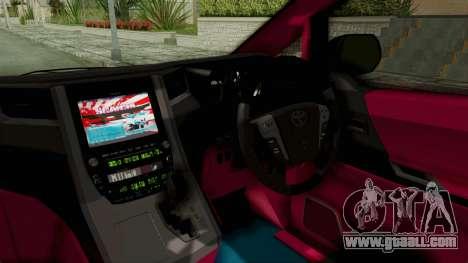 Toyota Vellfire Hatsune Miku Senbonzakura Itasha for GTA San Andreas inner view